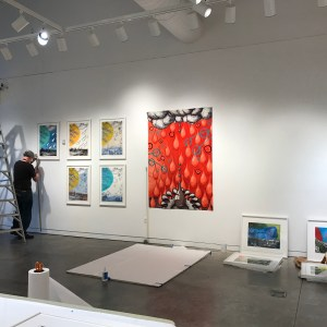Judy Youngblood Retrospective show installation