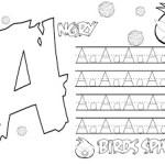 Caligrafía letra A