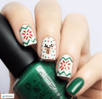 30 Festive and easy Christmas nail art designs you must ...