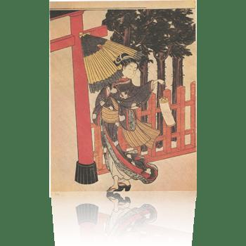 雨夜の宮詣で 春信