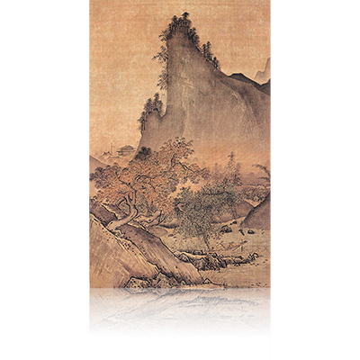 四季山水図(秋) Four Seasons landscape view 雪舟 Sesshu