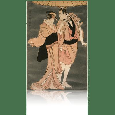 ニ代市川高麗蔵の亀屋忠兵衛と中山富三郎の梅川 写楽