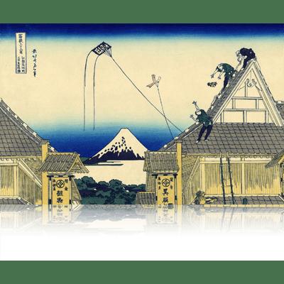 江都駿河町三井見世略圖 こうとするがちょうみついみせりゃくず A sketch of the Mitsui shop in Suruga in Edo. wpfmf3602