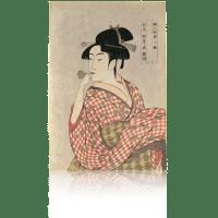 婦人相学十体・ポッピンを吹く女 歌麿 jpsutamaro16