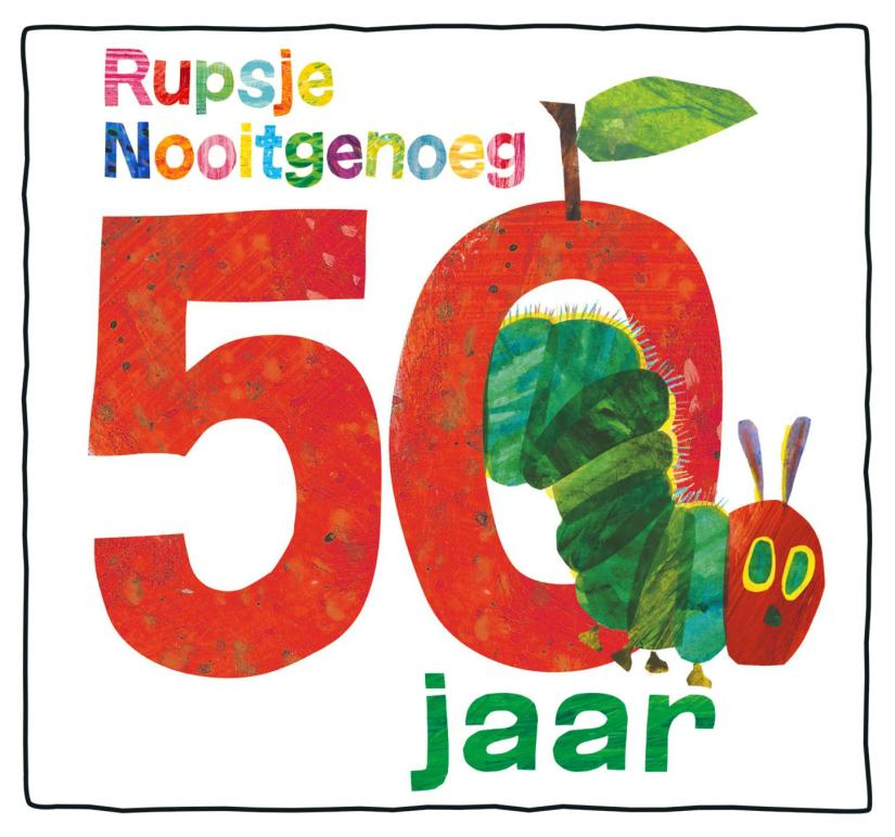 Logo vijftigjarig bestaan Rupsje Nooitgenoeg