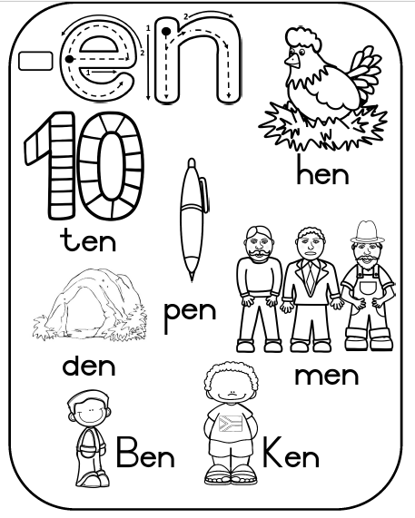 Word family learner book