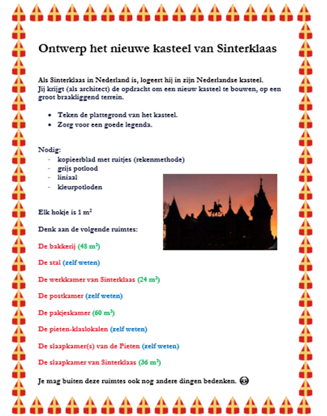 Ontwerp het nieuwe kasteel van Sinterklaas