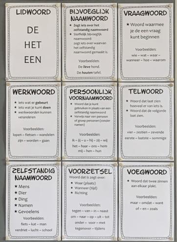 woordsoorten posters