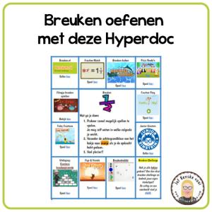 Breuken oefenen met deze HyperDoc