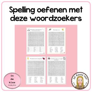 spelling oefenen met woordzoekers