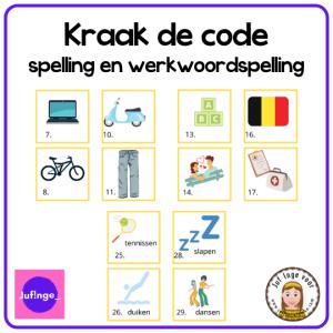 kraak de code spelling en werkwoordspelling