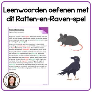 Leenwoorden oefenen met dit Ratten-en-Raven-spel
