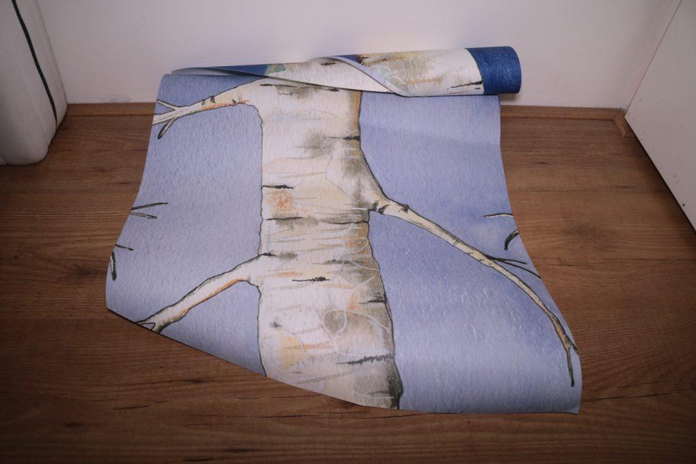 Witte Woud behang