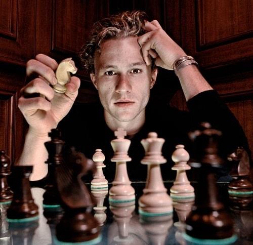 Heath Ledger- curiosidades de Gambito de Dama