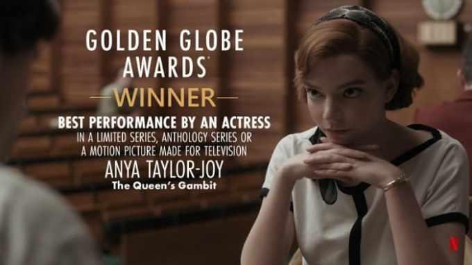 Anya Taylor-Joy ganadora del globo de oro 2021