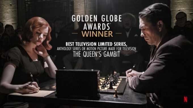 Gambito de dama ganadora del globo de oro