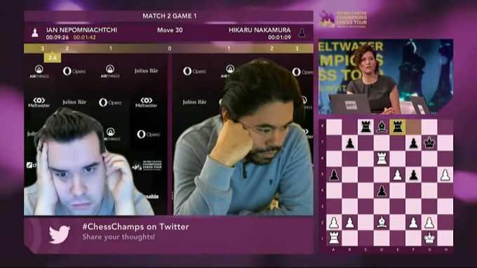 Ian Nepomnyashchy derrotó a Hikaru Nakamura en los cuartos de final del Magnus Carlsen Invitational