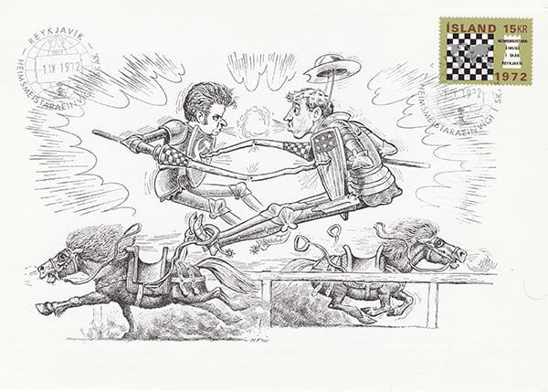 Spassky-Fischer 1972 una epopeya en los dibujos animados-Halldór Pétursson-12