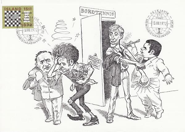 Spassky-Fischer 1972 una epopeya en los dibujos animados-Halldór Pétursson-13