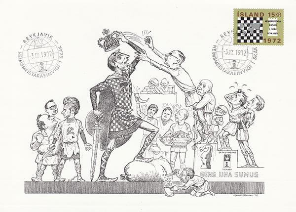 Spassky-Fischer 1972 una epopeya en los dibujos animados-Halldór Pétursson-18