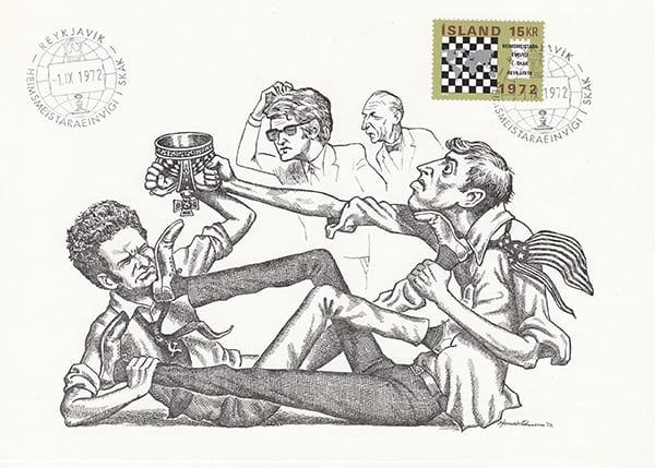 Spassky-Fischer 1972 una epopeya en los dibujos animados-Halldór Pétursson-7