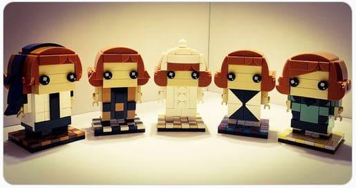 gambito de dama Lego