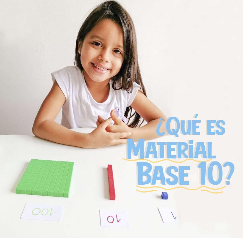 ¿Qué es el material base 10?