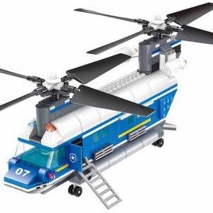 Bloques De Construcción Helicóptero Policía