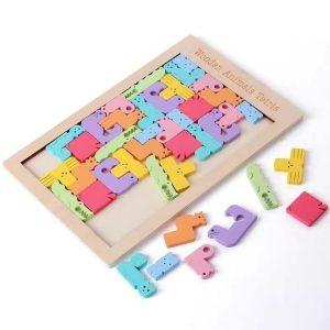 Tetris de Animales Coloridos