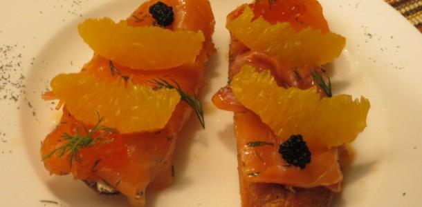 Resultado de imagen de pincho de salmon con mantequilla y eneldo