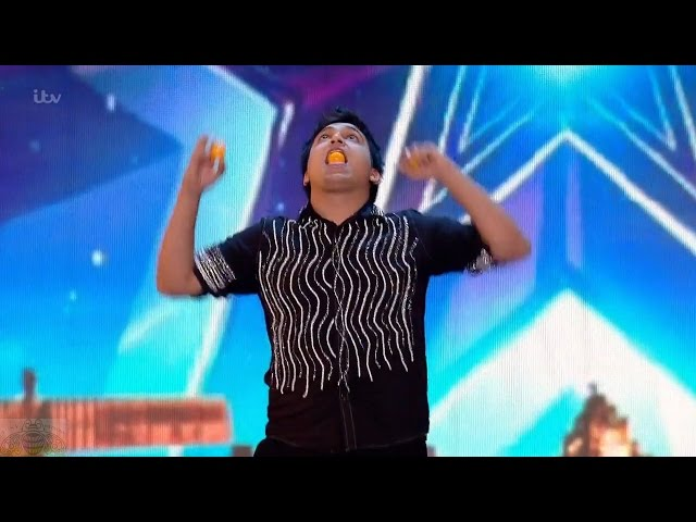 Britain's Got Talent 2016 S10E02 Roberto Carlos Mouth Juggling Genius Full Audition