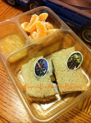 Natural Peanut Butter and Jelly, Clementines and Applesauce