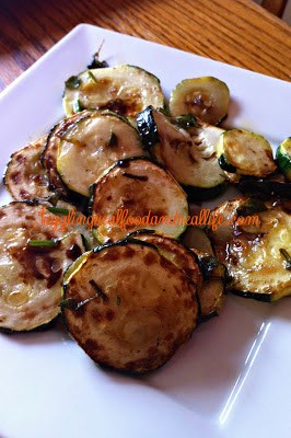 Drizzled Balsamic Zucchini