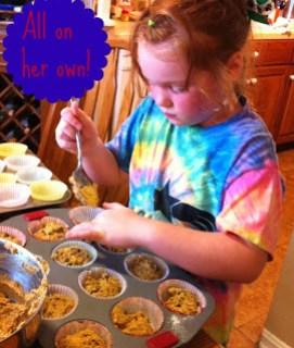 Making Pumpkin Spice Muffins