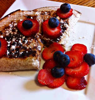 Peanut Butter - Fruit - Quesadilla