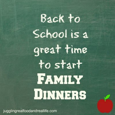 Back-To-School Is a Great Time to Start Family Dinner Traditions