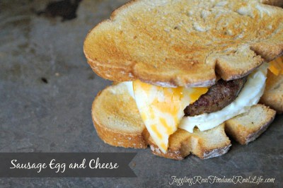 Sausage Egg and Cheese Breakfast Sandwich