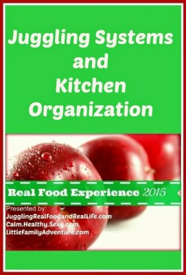 Juggling Systems and Kitchen Organization