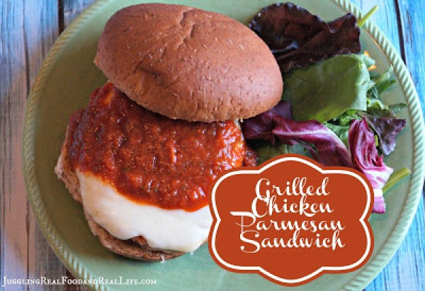 Quick and easy no recipe meal grilled chicken parmesan sandwich my family is busy all year round but summer seems a little less predictable will the softball game be rained out will the game go into extra innings forumfinder Images