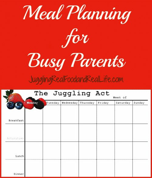 Meal Planning for Busy Parents
