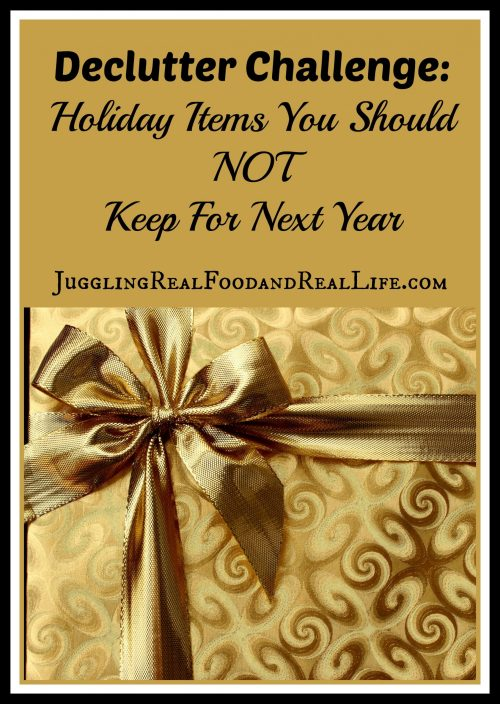 Holiday Declutter Challenge