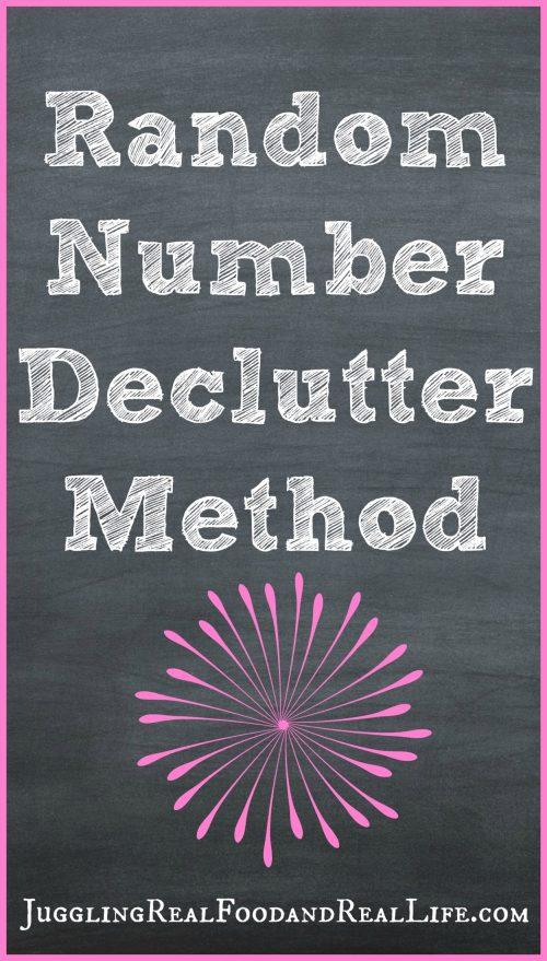 Random-Number-Declutter-Method
