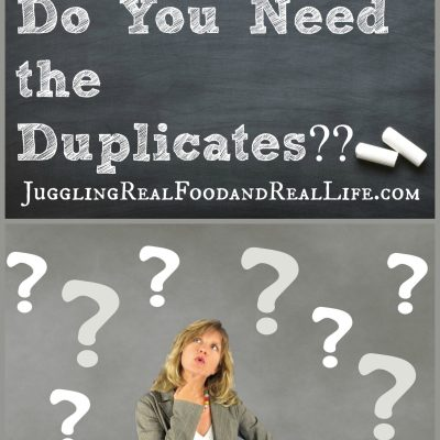 Declutter Challenge: Are Duplicates Creating Clutter For You?