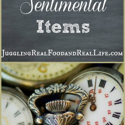 Decluttering Sentimental Items: Part 1
