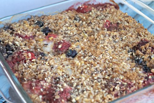 Strawberry-Blueberry-Banana-Baked Oatmeal