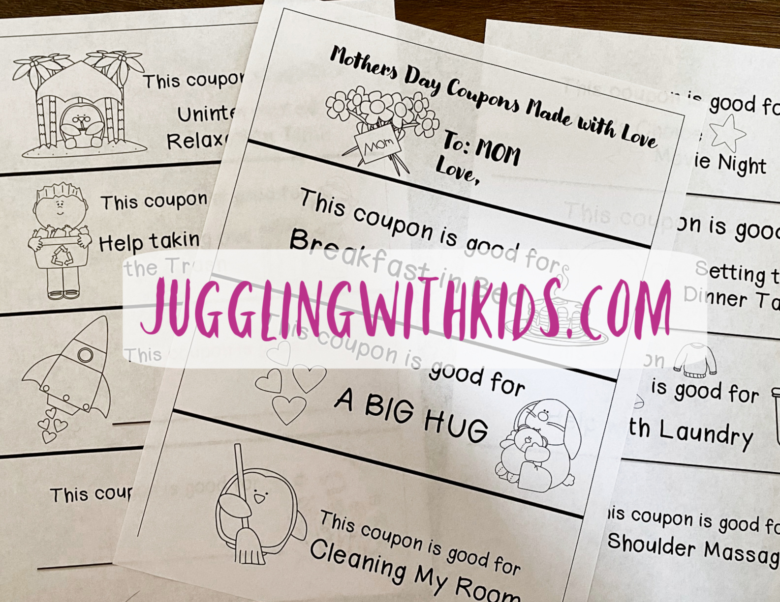 Mother S Day Coupons Free Printable Juggling With Kids
