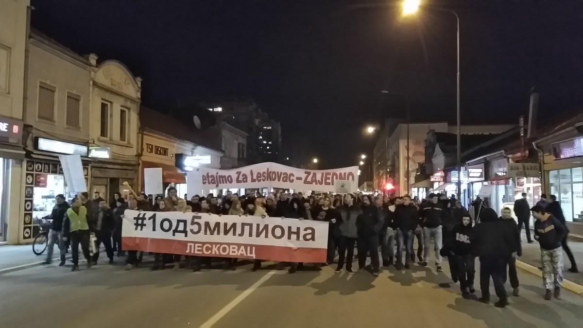 Treći protesti održani u Leskovcu