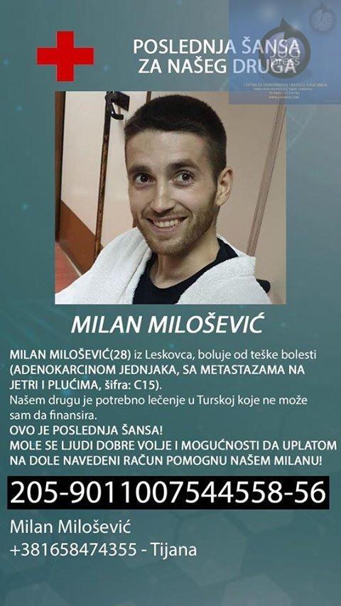 Preminuo Milan Milošević
