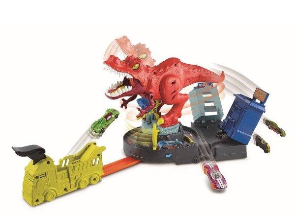 pista hotwheels rex demoledor