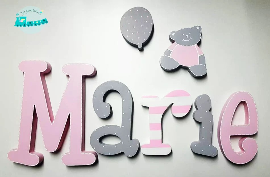 Nombre en Madera  Letras de Madera  Letras Pared  Letras decorativas  Letras personalizadas  Decoracion de Madera  Decoracion Infantil